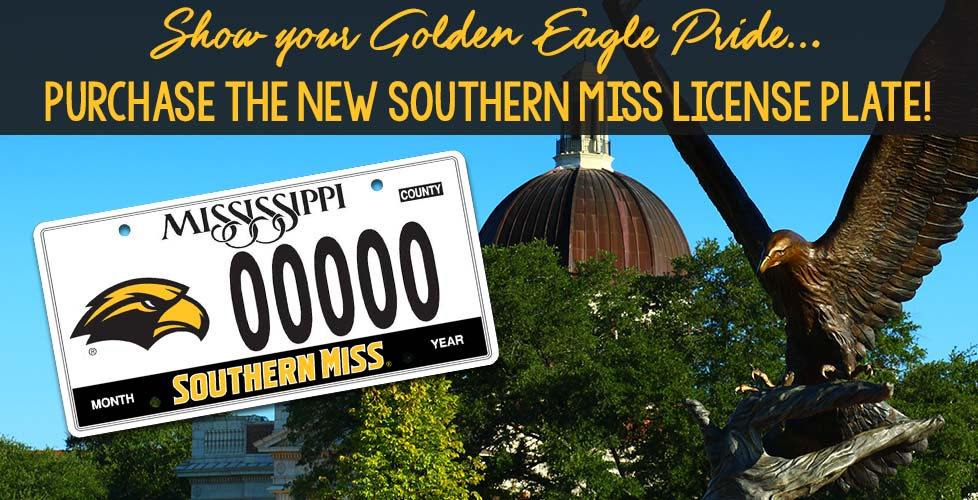New Southern Miss License Plates Available!