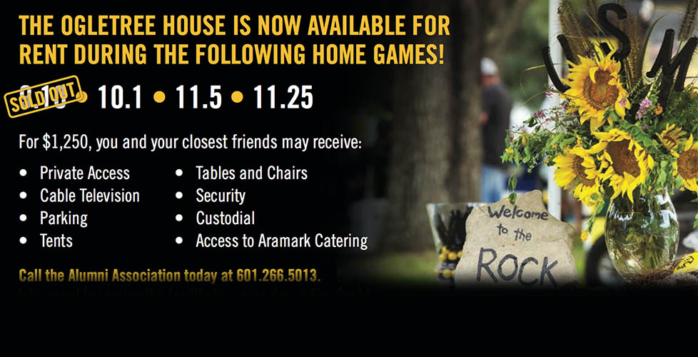 Rent the Ogletree House for Game Day at The Rock!